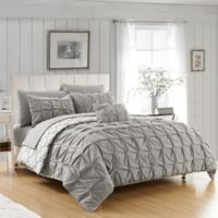Chic Home 8-Piece Reversible King Duvet Cover Set in Grey