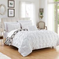Chic Home 3-Piece Reversible Twin Duvet Cover Set in White