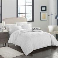 Chic Home Calamba King Duvet Set in White