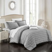 Chic Home Calamba Queen Duvet Cover Set in Grey