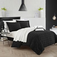 Chic Home Calamba Queen Duvet Cover Set in Black