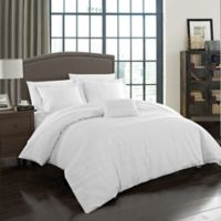 Chic Home Wiltshire Queen Duvet Cover Set in White