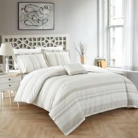 Chic Home Wiltshire King Duvet Cover Set in Beige