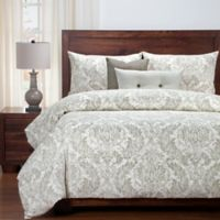 SIScovers® Modern Farmhouse Parlour California King Duvet Cover Set in Tan/Off White