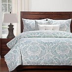 SIScovers® Modern Farmhouse Parlour King Duvet Cover Set in Blue/Off White