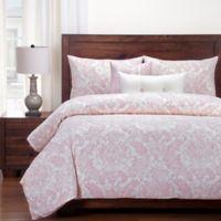 SIScovers® Modern Farmhouse Parlour California King Duvet Cover Set in Pink/Beige