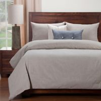 SIScovers® Modern Farmhouse Naturalize Peat California King Duvet Cover Set in Taupe