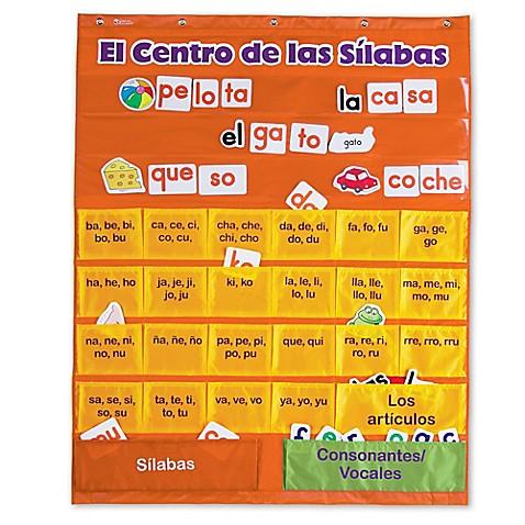 Learning Resources El Centro De Las Silabas Chart Bed Bath Beyond