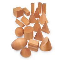 Learning Resources® 19-Piece Wood Geo Solids Set