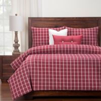 SIScovers® Tartan Brick Twin Duvet Cover Set in Red/White