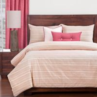 SIScovers® Sunwashed Brick California King Duvet Cover Set in Red/Beige