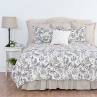 Aurelia Reversible Twin Quilt Set in Grey