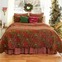 Gloria Reversible Full/Queen Quilt in Red