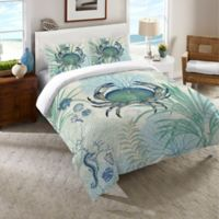 Laural Home® Blue Crab Queen Duvet Cover in Blue