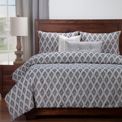 SISovers® Diamond Creek California King Duvet Cover Set In Blue/Off White