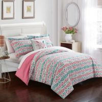 Chic Home Mayumi 4-Piece Full Duvet Set in Aqua
