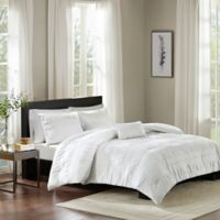 Madison Park Nicolette King/California King Duvet Cover Set in White