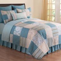 Melinda Twin Reversible Quilt Set in Blue