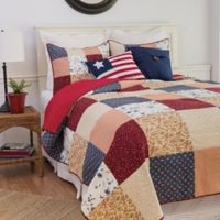 Liberty Twin Reversible Quilt Set in Red