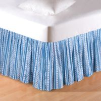 Hampstead Stripes Queen Bed Skirt in Blue