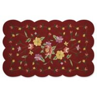 Nourison Everywhere Petite Floral Scallop 3-Foot 3-Inch x 5-Foot 3-Inch Area Rug in Red