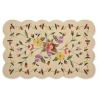 Nourison Everywhere Petite Floral Scallop 3-Foot 3-Inch x 5-Foot 3-Inch Area Rug in Ivory