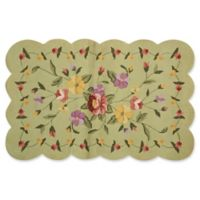 Nourison Everywhere Petite Floral Scallop 3-Foot 3-Inch x 5-Foot 3-Inch Area Rug in Green