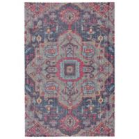 Feizy Tosca Diamond Medallion 5-Foot x 8-Foot Area Rug in Teal Multi