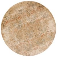 KAS Heritage Damask 7-Foot 7-Inch Round Area Rug in Champagne