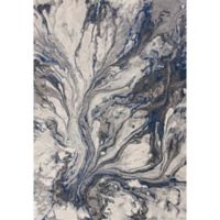 KAS Illusions Watercolors 3-Foot 3-Inch x 4-Foot 11-Inch Accent Rug in Grey