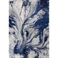 KAS Illusions Watercolors 3-Foot 3-Inch x 4-Foot 11-Inch Accent Rug in Blue