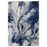 KAS Illusions Watercolors 5-Foot 3-Inch x 7-Foot 7-Inch Area Rug in Blue