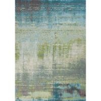 KAS Illusions Escape 3-Foot 3-Inch x 4-Foot 11-Inch Accent Rug in Blue/Green
