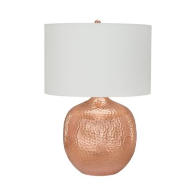 Praha Table Lamp In Copper With Hardback Shade