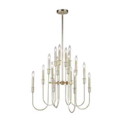 Dimond Lighting Waxley 16-Light Chandelier in Antique Silver Leaf