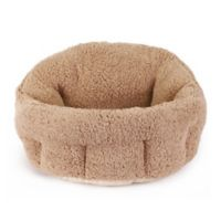 Best Friends by Sheri Deep Dish Sherpa Pet Bed in Baby Beige