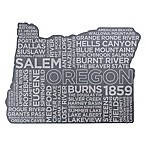 Top Shelf Living Oregon Etched Slate Cheese Board