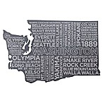 Top Shelf Living Washington Etched Slate Cheese Board