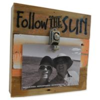 Sweet Bird & Co. Follow the Sun 8-Inch Square Reclaimed Wood Clip Frame
