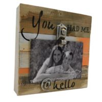 Sweet Bird & Co. You Had Me @ Hello 8-Inch Square Reclaimed Wood Clip Frame