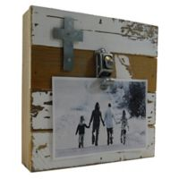 Sweet Bird & Co. Accent Cross 8-Inch Square Reclaimed Wood Clip Frame
