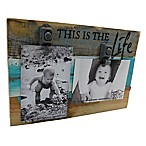 "Sweet Bird & Co. ""This Is the Life"" 2-Photo Collage Reclaimed Wood Clip Picture Frame"