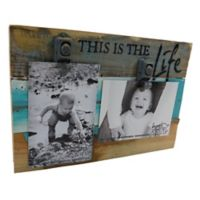 Sweet Bird & Co. This Is The Life 8-Inch x 12-Inch Reclaimed Wood Clip Frame