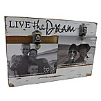 "Sweet Bird & Co. ""Live the Dream"" 2-Photo Collage Reclaimed Wood Clip Picture Frame"