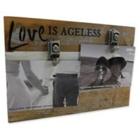 Sweet Bird & Co. Love Is Ageless 8-Inch x 12-Inch Reclaimed Wood Clip Frame