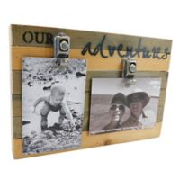Sweet Bird & Co. Our Adventures 8-Inch x 12-Inch Reclaimed Wood Clip Frame