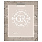 Grasslands Road® Shiplap 8-Inch x 10-Inch Frame in Grey