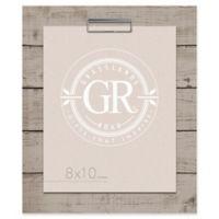 Grasslands Road® Shiplap 8-Inch x 10-Inch Frame in Grey