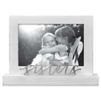 Rustic Joanna Sisters 4-Inch x 6-Inch Wood Picture Frame in White