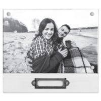 Rustic Silas 4-Inch x 6-Inch Wood Memo Picture Frame in White